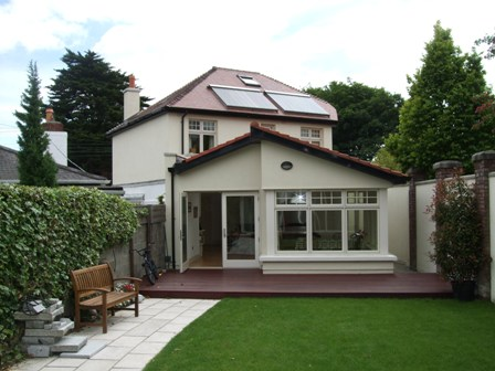 Detached house with solar panels